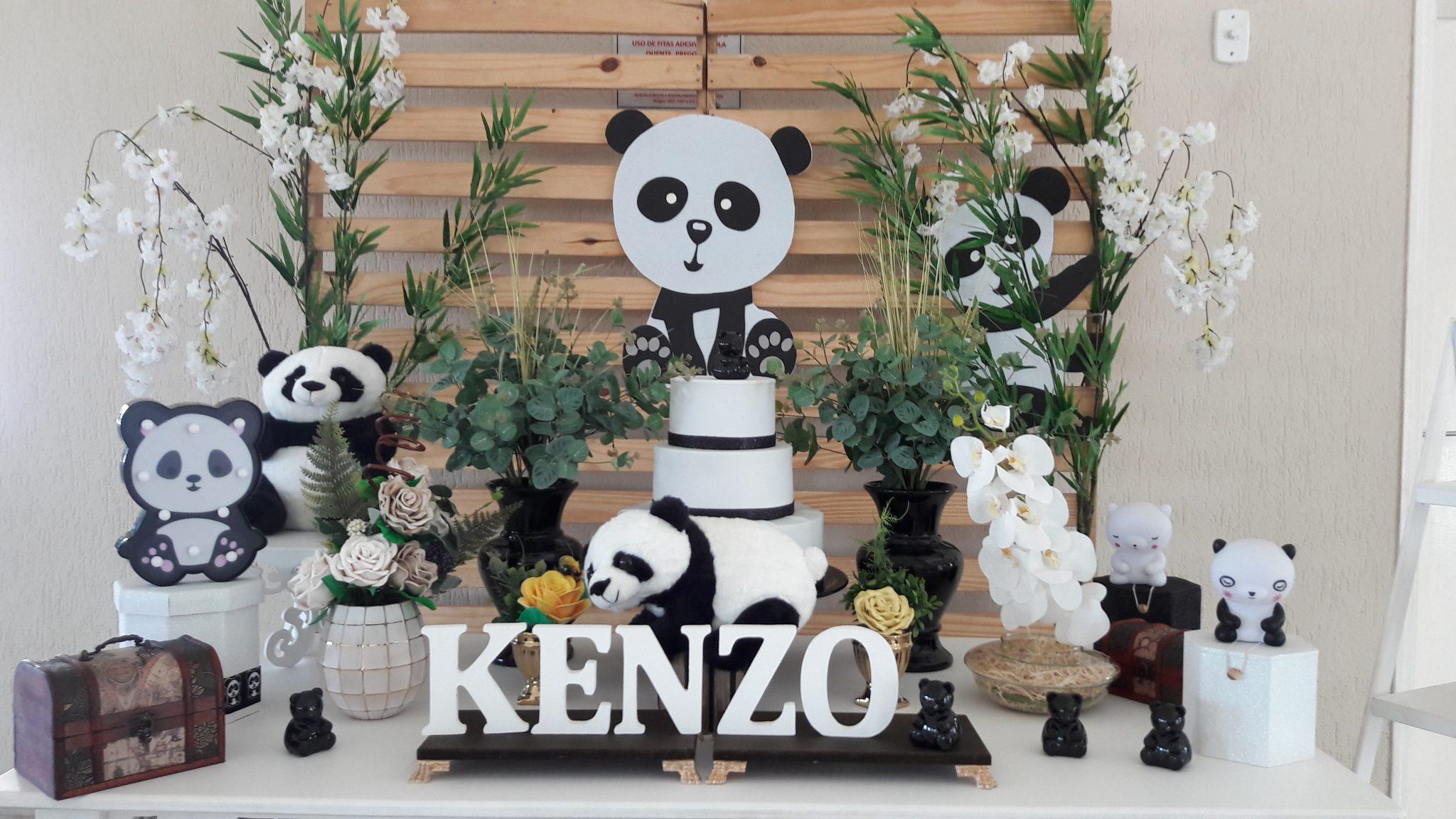 Mesa Decorada Do Urso Panda Universo Decorado